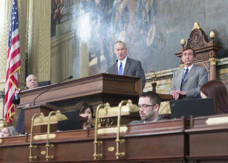 Senator Turzai speaks