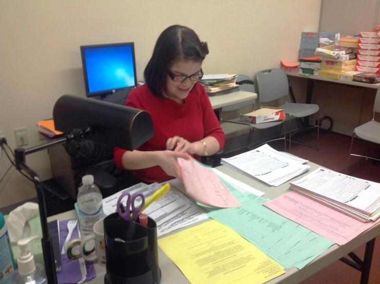 Ninoska at Work at CEO