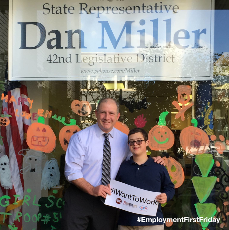 State Rep. Dan Miller poses with youth