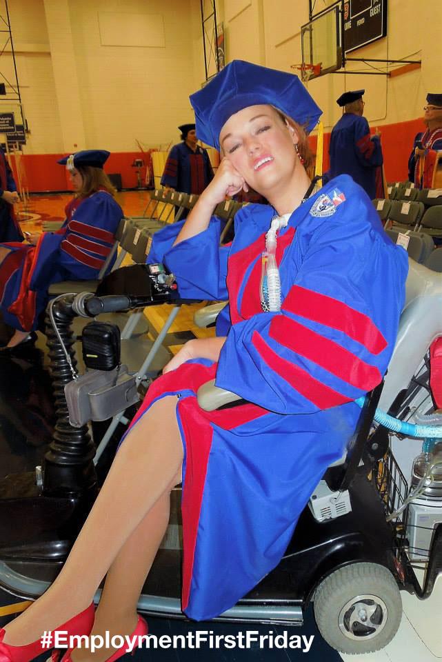 Josie Badger at graduation