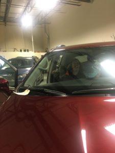 Alexa Brill in new car